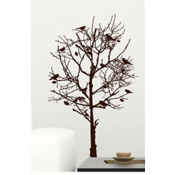 Large Wall Art Decals Tree w/ Birds Room Decor Accents Reusable Removable Decal