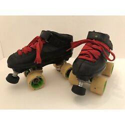 Riedell Carrera Roller Skate Speed Style #2 105B, Play Grip XX Wheels, Size 7.