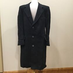 New w Tags NWT Men's Wool Coat by Austin Manor Size 42S CHARCOAL GRAY BLACK