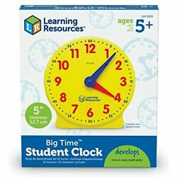 Learning Resources Big Time Student 5'' Clock Teaching Demonstration 12 Hour 5+