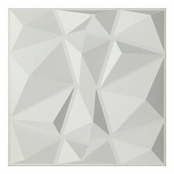 Art3d Textures 3D Wall Panels White Diamond Design Pack of 12  Assorted Colors