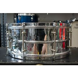 1920s Ludwig 6.5x15 Chrome Over Brass