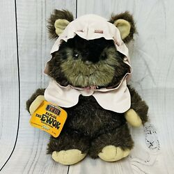 """Vintage 1984 Star Wars Paploo The Ewok Stuffed Plush With Tags #99590 15"""" Kenner"""