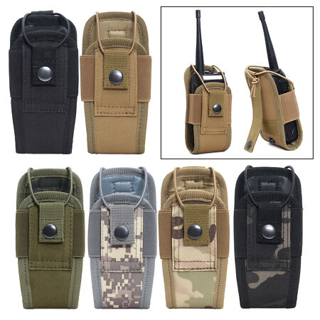 img-Radio Pouch Outdoor Molle Walkie Talkie Bag Belt Holder Holster Carry Bag