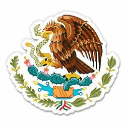 GT Graphics Express Mexican Eagle Coat of Arms Flag - 3'' Vinyl Sticker - for Car