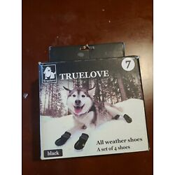 Truelove Dog Shoes Waterproof All Weather Reflective 4pc - Size 7
