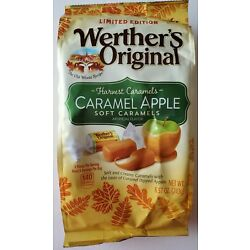 NEW LIMITED EDITION WERTHER'S ORIGINAL CARAMEL APPLE SOFT CARAMELS FREE SHIPPING