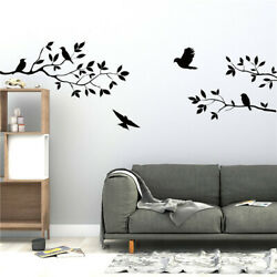 Birds Tree Branch Handcrafted Wall Art Sticker Mural Home Room Decor Decal