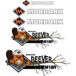 Morbark Beever M18R Decals Aftermarket Repro Decal Sticker Kit, UV laminated