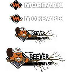 Morbark Beever M15R Decals Aftermarket Repro Decal Sticker Kit, UV laminated