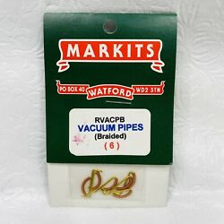 Markits Model Train Braided Vacuum Pipes RVACPB 6 Count - GAUGE UNKNOWN