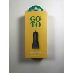 GOTO Dual USB-A Car Charger - OPEN BOX - NEW PRODUCT - FAST US SHIPPING