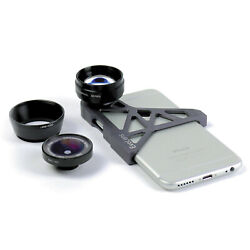 WOW iPhone 6 6S OpTriX ExoLens Pro Series kit 3x Telephoto 165° Wide Angle +MORE