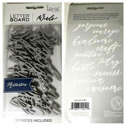 Letterboard Decorative Wall Art Set Gray Word Pack - New from Target