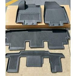 NEW OEM 2022-2023 NISSAN PATHFINDER 4PC MOLDED ALL WEATHER FLOOR MATS