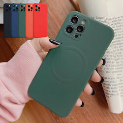 For iPhone 13 Pro Max 12 Pro Max Phone Case Slim TPU Mag Safe Magnetic Cover