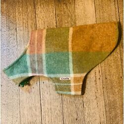 HANDMADE dog coat jacket made from brown vintage wool blanket for small dog