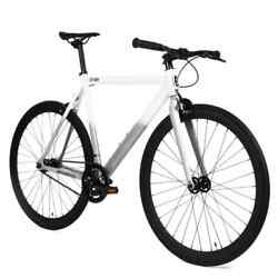 Golden Cycles 700c Fixie Fixed Gear Track alloy Frame White Grey :51 55 59 63cm