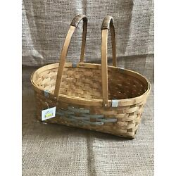 Bamboo Basket With Metal Accents