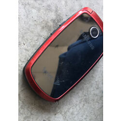 Samsung Spring flip phone cell vintage red as is