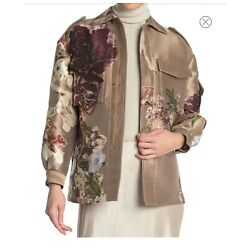 Valentino - Floral 100% Silk Zip Front Jacket, Size 40 (4US), $8,500.00, NWT