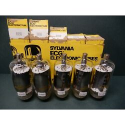 Sylvania ECG 8950 Vacuum Tube NOS Sleeve of Five Tested Matched and 100%+