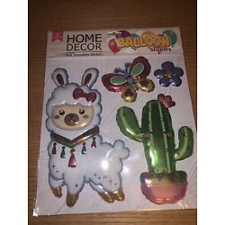 balloon wall stickers llama cactus butterfly