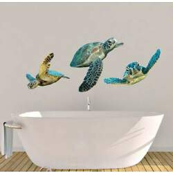 Sea Turtle Reusable Fabric Wall Decal Stickers