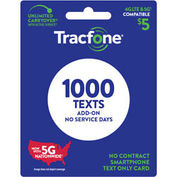 TracFone $5 Text Add On Card 1000 TXT [Email Delivery]