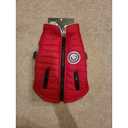 LuvGear Protect Me Alert Series Red Lined Dog  Jacket Cold Alert Tech XS