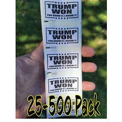 TRUMP WON Stickers 25-500 Pack politic decals donald election bulk decal labels