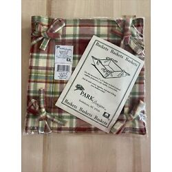 NEW - Park Designs Basket 5X5'' Red Delicious Plaid Farmhouse Country Kitchen