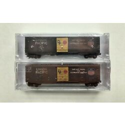 Micro-Trains N Scale Factory Weathered Union Pacific Box Car Set (07744050)