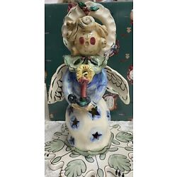NWT Ceramic Angel From Blue Sky Clayworks By Heather Goldminc Christmas In Box