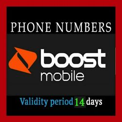 Boost Mobile port number.  ANY Area Code  !! Good For 14 Days !!! Fast Delivery
