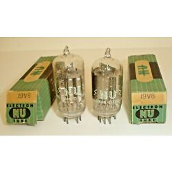 Lot 2 NOS NU National Union 19V8 Electron Vacuum Tubes New Old Stock U.S.A. C32