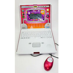 Discovery Kids Teach & Talk Exploration Laptop w/Mouse WORKS Educational. Pink.