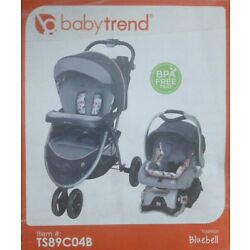 Baby Trend Sky View Plus Travel System Stroller w/ Infant Car Seat Bluebell