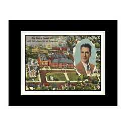 Massachusetts Postcard Reprint - Sky view of Central Hill with vets honor roll i