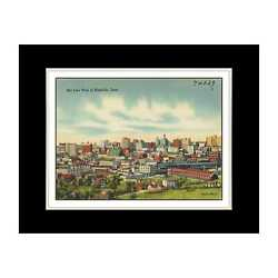Tennessee Postcard Reprint - Sky line view of Nashville, Tenn. - Matted for 11x1