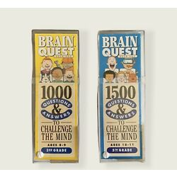 Lot of 2 Brain Quest Questions And Answers To Challenge The Mind 3rd/5th Graders