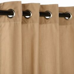 Sunbrella Spectrum Sand Outdoor Curtain with Nickel Plated Grommets 50 in. x 120