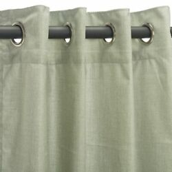 Sunbrella Outdoor Curtain with Nickel Plated Grommets in Cast Oasis 50 in x 120