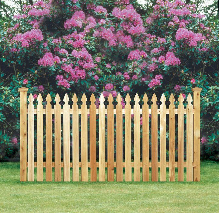 Wholesale Lot Wood Cedar Picket Fence 4 X 80