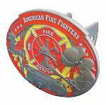 "Fire Fighter Metal Hitch Cover Fits 2"" Square Receiver"