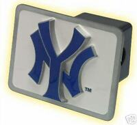 "NY Yankees Metal Hitch Cover Fits 2"" Square Receiver"