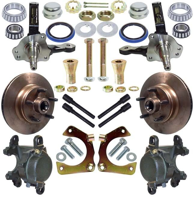 NEW DIRT MODIFIED RACING HUB, ROTOR, SPINDLE & BRAKE CALIPER KIT,W/ BEARING KITS
