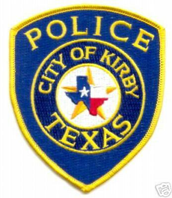 tx city of kirby texas police dept shoulder patch mint ebay