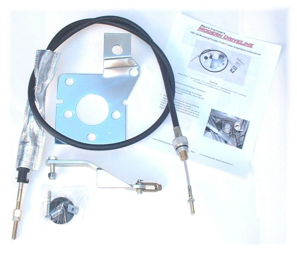 1967 68 mustangs cougar t5 t45 t56 tko clutch cable kit ebay