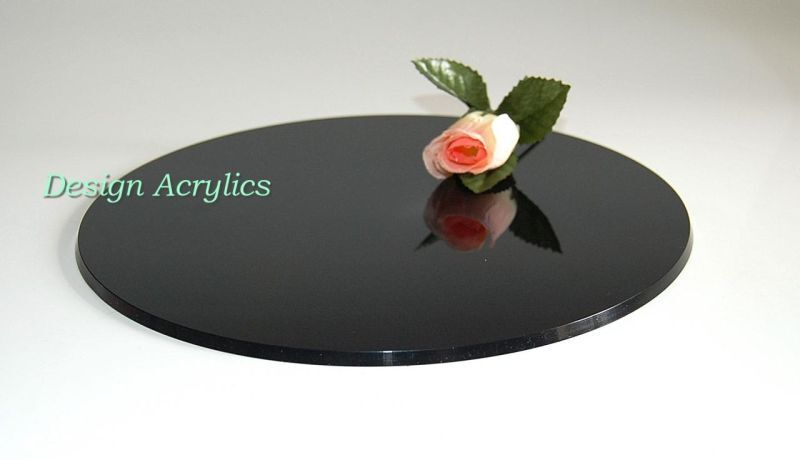 black pedestal wedding cake stand 6 quot black acrylic wedding cake plate board stand ebay 11872